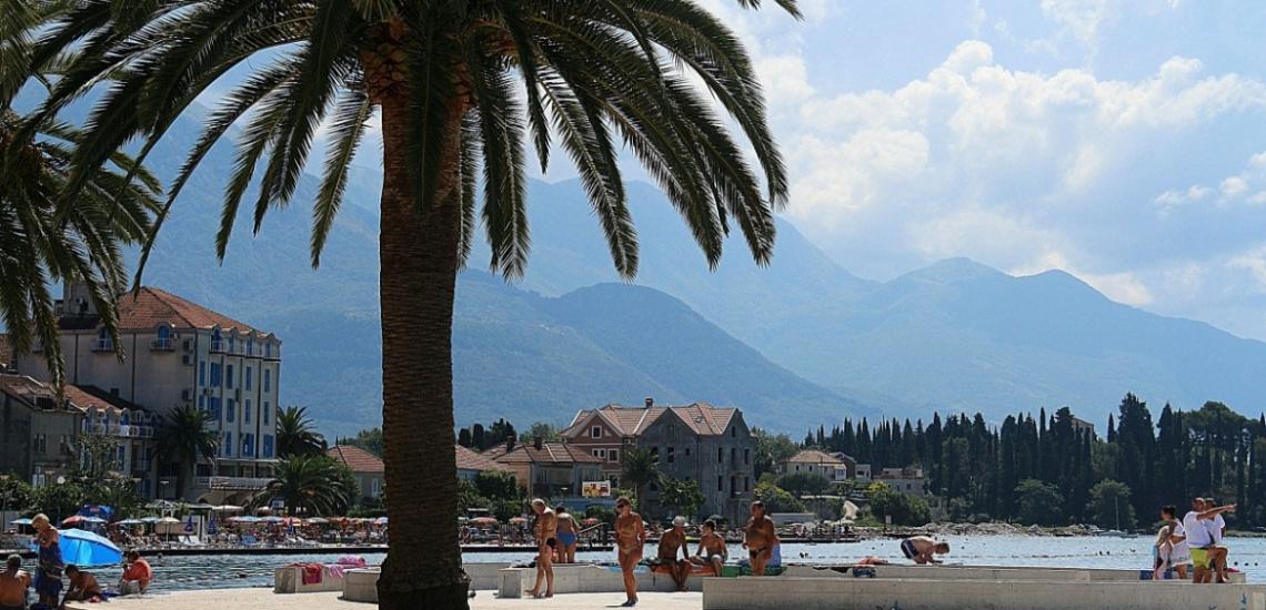 Gradska plaža Tivat, городской пляж в Тивате
